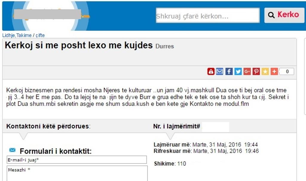 Me kosoves njoftime femra te Njoftime Per